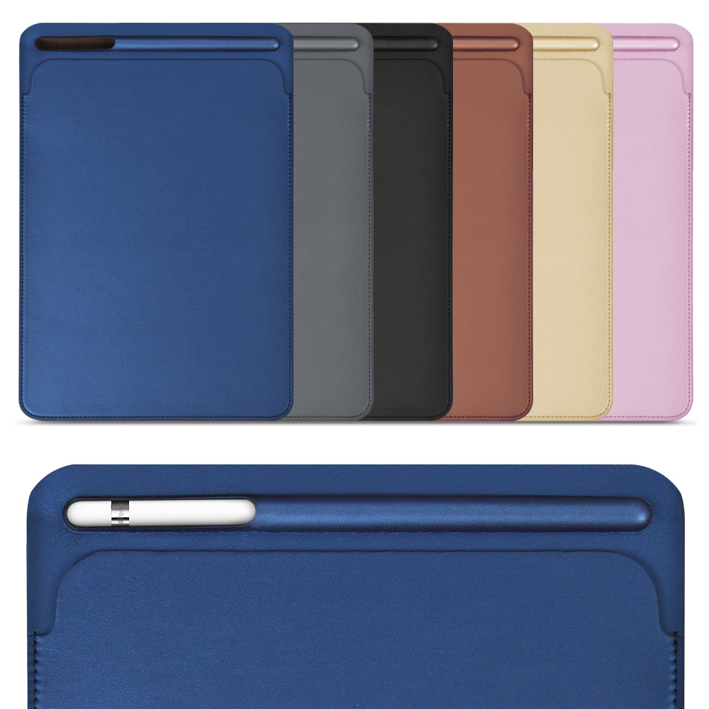 for iPad Pro 12.9 inch, ZVRUA New 2017 Premium PU Leather Sleeve Case Pouch Bag Cover with Pencil Slot for Pro12.9 for ipad pro 12 9 inch case sleeve esr protective carrying bag with back pocket pencil holder pouch for ipad pro 12 9 2015 2017