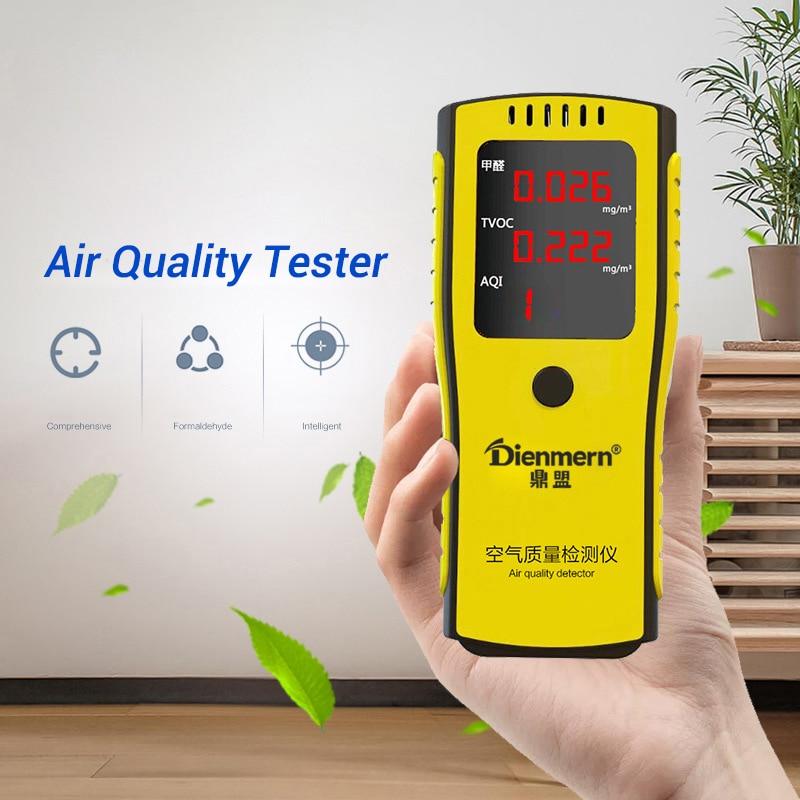 Digital Formaldehyde Detector Meter Formaldehyde Tester Sensor HCHO & TVOC Meter Air Analyzers Air Quality Tester tvoc hcho api professional household test paper benzene air quality tester formaldehyde self test box
