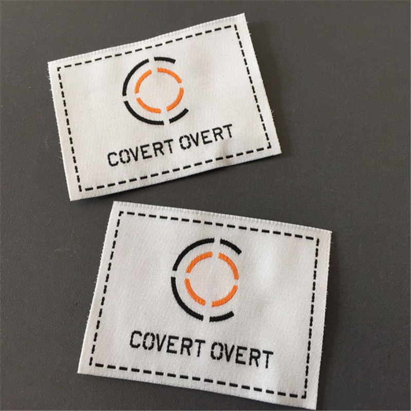 Custom High Definition True White Woven Label-in Garment