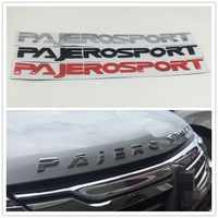 530*43mm Anteriore Cappuccio Logo Distintivo Dell'emblema Targhetta Per Mitsubishi Pajero Montero Sport Suv Pajerosport