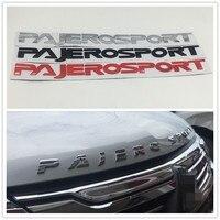 530*43mm Front Hood Logo Emblem Badge Nameplate For Mitsubishi Pajero Montero Sport Suv Pajerosport