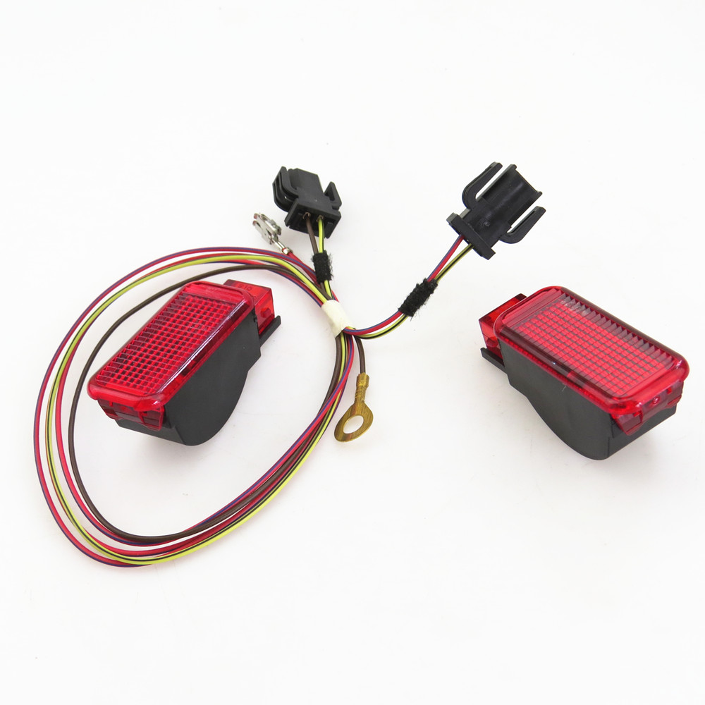 Car Door Panel Interior Red Warning Light Cable Harness