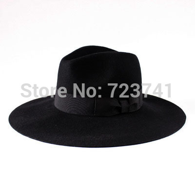 33f7da370b3 Brand Fashion 100 Wool Winter Autumn 100% Women s Men Fedora hats Trilby  JONES Original felt panama Cap Size 56 58CM adjusted-in Fedoras from  Apparel ...