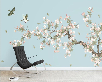 beibehang papier peint Begonia Flowers Hand Painted Flower Bird Background wall papel de parede wallpaper hudas beauty beibehang custom fashion stereo wallpaper retro hand painted beauty clothing store tooling papel de parede papier peint behang