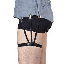 2 шт Мужская Рубашка Остается ремень с не-с блокировкой скольжения зажимы держать рубашку заправленные ноги бедра подвязки ремень