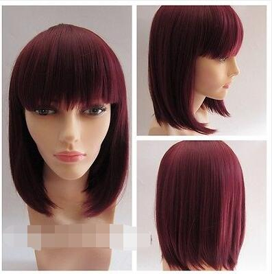 Hot Sell!  Short Nice Burgundy Red Hot Selling Hair Wig