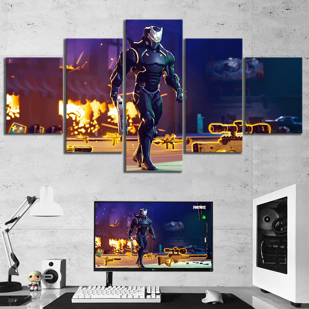 Canvas Pictures Living Room Decoration Framework Popular Paintings Printed Shooting Game Cartoon Posters Modular Wall Artworks