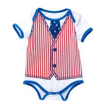 Body For Newborn Babys Independence Day Romper Twins Baby Bodysuits Infant-clothing
