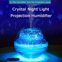 Starry Sky Night Light Projector Humidifier Plug In 3D Atmosphere Neon Table Lamp 500ml Large Water Tank Bedside Home Decoration
