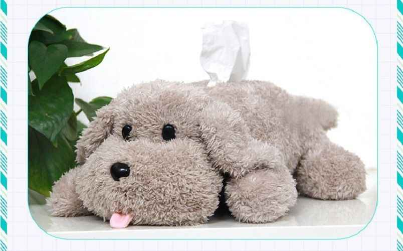 Милая плюшевая бумажная коробка для салфеток, аниме, Yuri on ICE, Victor Makkachin пудель, плюшевая коробка для ткани, собачья игрушка, бумажная коробка, милая, прочная, милая