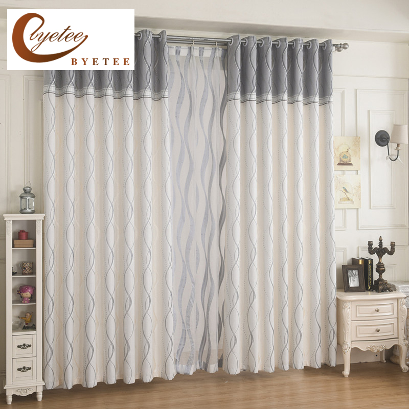 Aliexpress.com : Buy {byetee} Modern Striped Room Window Curtain Fabrics Curtain Kitchen