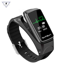 цены на B7 Smart Band Bluetooth Headset Wristband Talkband Talk Band Heart Rate Monitor Smartband Bracelet with Music Player Answer Call  в интернет-магазинах