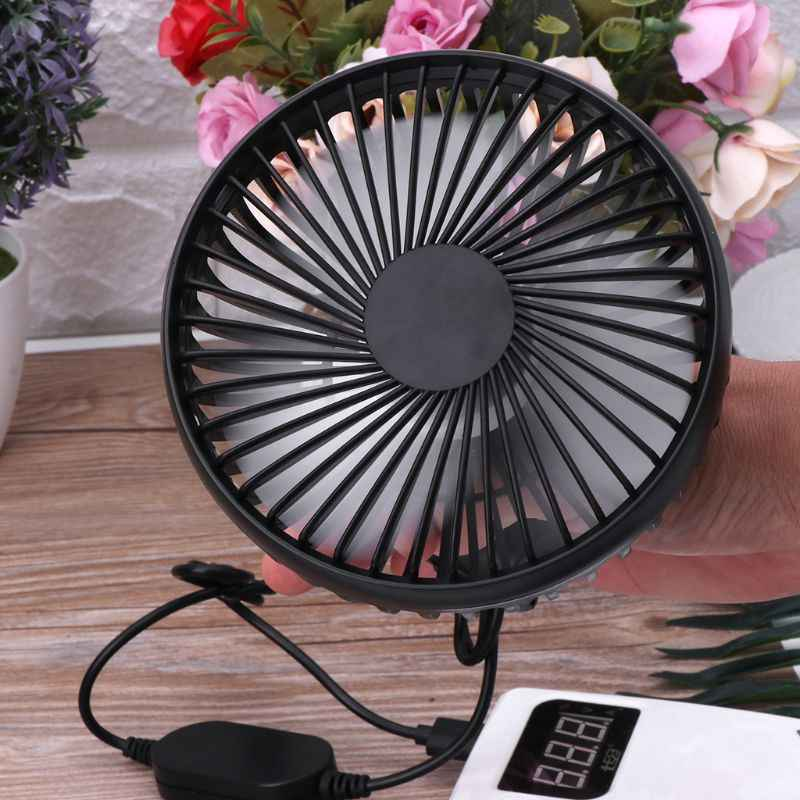 Universal Car Back Seat Headrest Three Speed 5V USB Fan With Switch Air Cooling Fan for Home Car Truck Headrest Desktop Office
