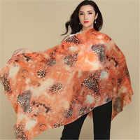 Grote maat pure geit kasjmier vrouwen mode gedrukt dunne sjaals sjaal pashmina 70x200 cm kleine kwastje oranje 6 kleur