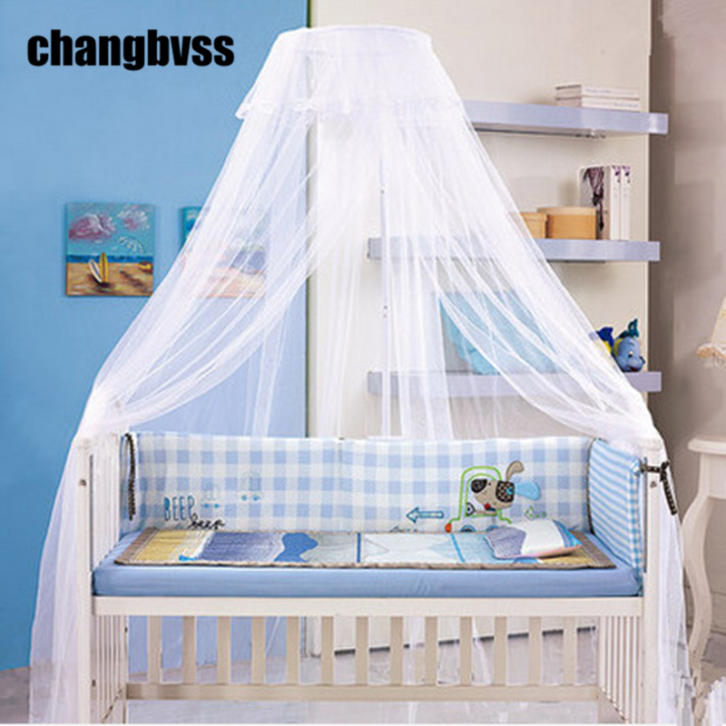 3 Colors 1PC Baby Bed Mosquito Net Princess Mosquito Nets for Baby Girls Crib Children Crib Netting Fine Mesh Baby Bed Canopy double door type crib yurt netting larger space baby bed canopy travel kids camping mesh tent folding easily baby mosquito net