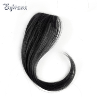 Bybrana Brazilian Remy Clip In Hair Human Hair Bangs 25cm And 30cm Natural Hair For Women