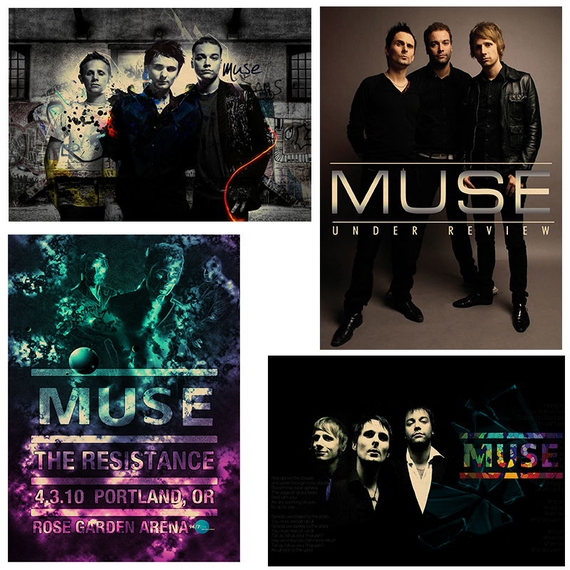 Muse Poster.muse Rock Music Vintage Retro Poster Kraft Paper Decorative Wall Sticker