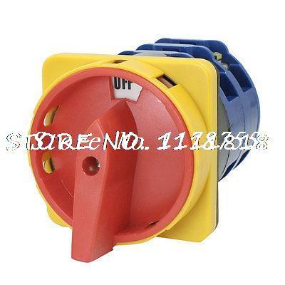 Ui 660V Ith 125A ON/OFF 2 Position Rotary Cam Changeover Switch LW28-125/3 ui 660v ith 40a rotary cam on off changeover switch new