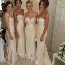 Elegant Sequined Chiffon Long Mermaid Bridesmaid Dresses Off the Shoulder Sleeveless Wedding Party Dresses