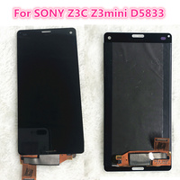 10pcs Black White LCD For SONY Xperia Z3 Compact Touch Screen LCD Z3Mini D5803 D5833 Z3C