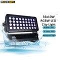 36x10 Вт светодиодный городской свет  уличный строительный проектор IP65 rgbw 4 в 1  светодиодные цветные моющиеся огни DMX  моющиеся огни  сценическ...