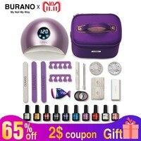BURANO 30 days lasting gel polish nail kit set everything for manicure set gel nail polish spark gel nail set nail art tools
