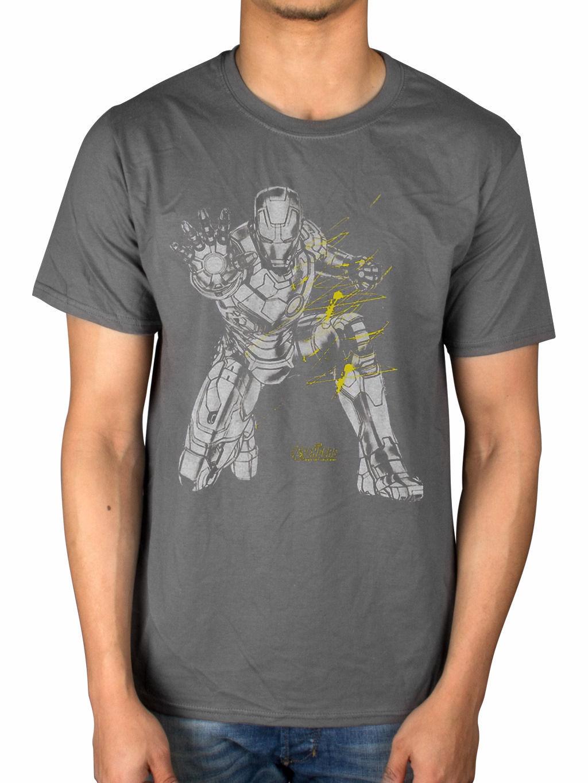 Official Edad De Avengers Marvel Ultron Iron Man Splash camiseta ...