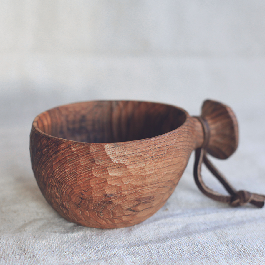 Bol en teck en bois fait à la main avec poignée teck de birmanie revêtement facile à transporter vaisselle de qualité huile amicale pour lait/salade