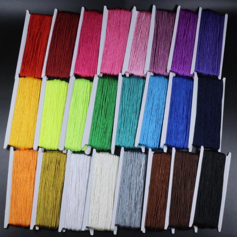 34 Yard (31 metre) /grup 3mm Çin Soutach Kablosu Çok Renkli naylon halat Yılan Göbek Kabloları DIY Takı Yapımı Bulguları