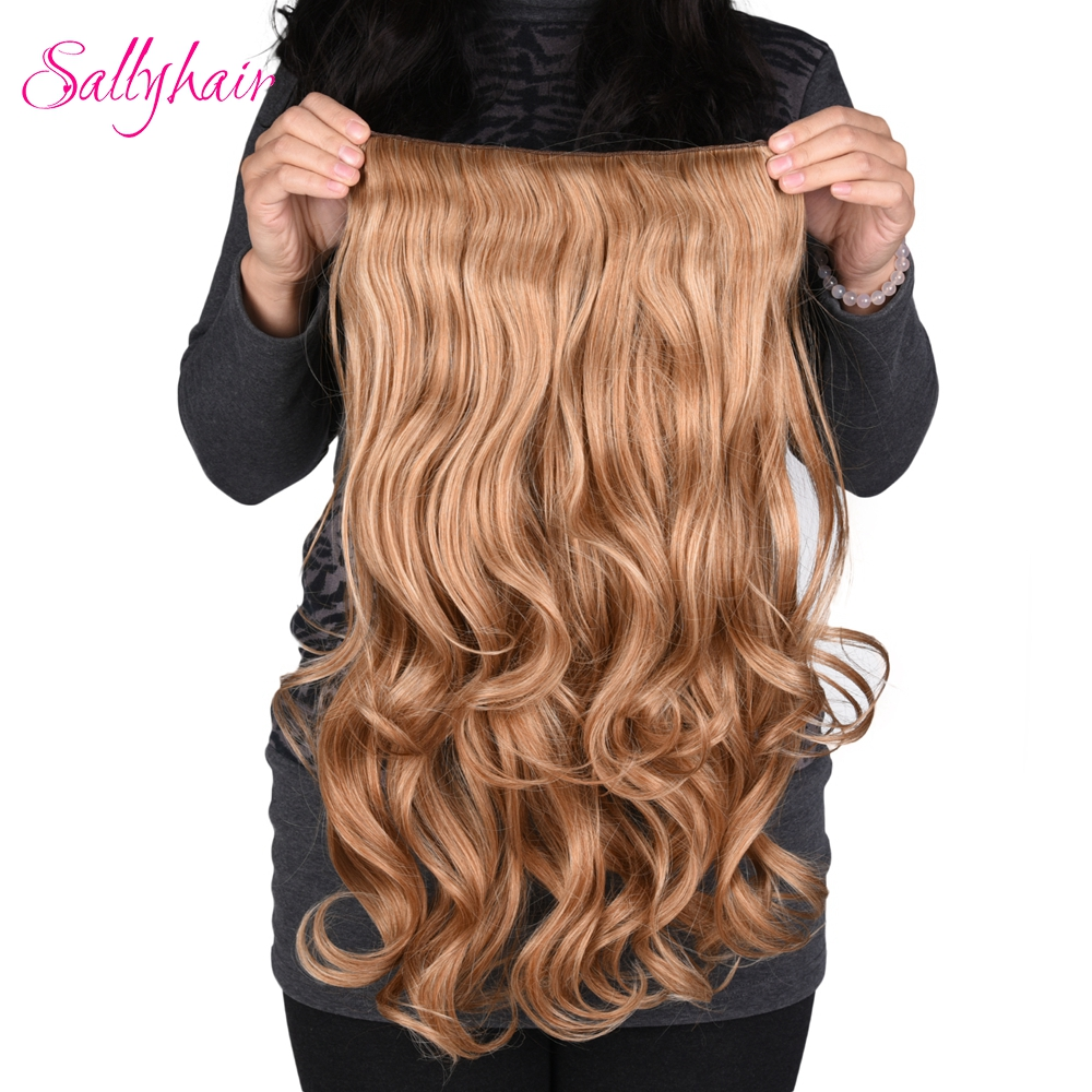Sallyhair 190g 24 Inch Stretched Wavy Clip In Synthetic Hair