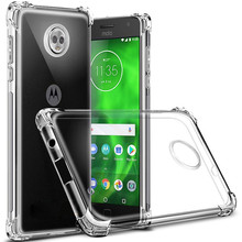 For Motorola Moto G6 E5 Play Plus Case Transparent Air Cushion Cases Clear Crystal Cover Capa Soft Silicone TPU Gel Phone Bag(China)
