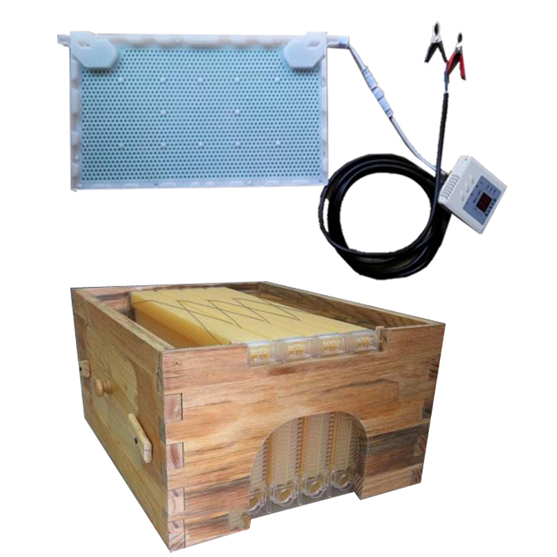 Free ship automatic honey flow hive honeycomb 4 frames with super box beehive intelligent physical acaricidal instrument kits 8 frames reversible electric honey extractor