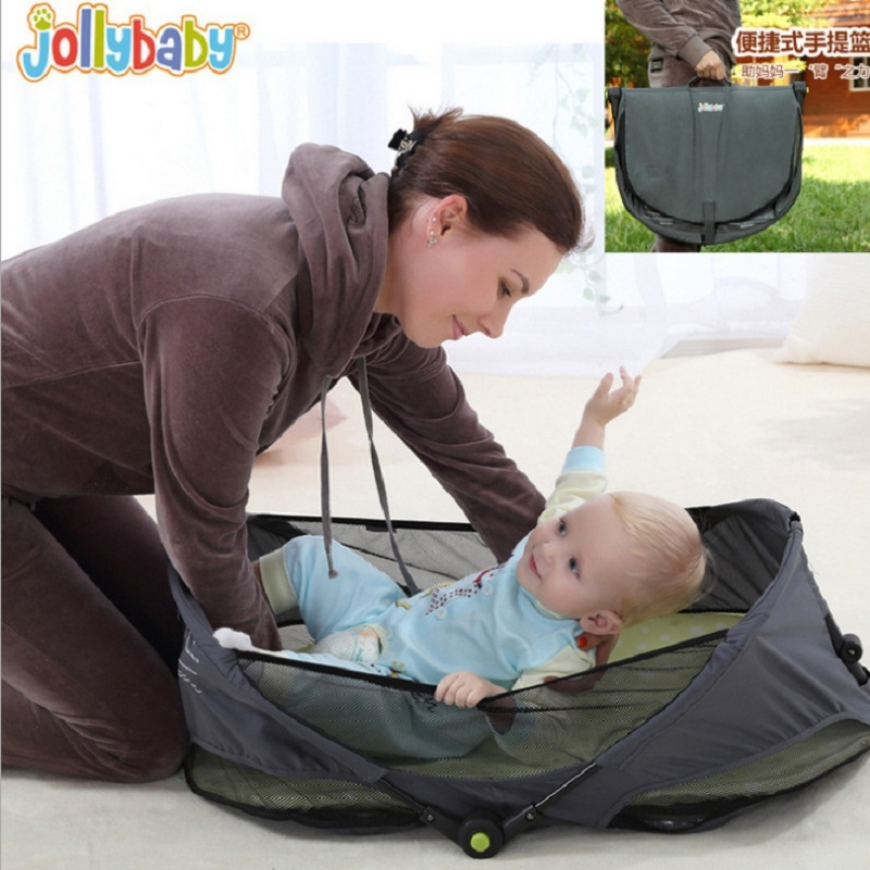Sozzy Baby Bedding Newborn Bed Cradle Bassinet For 0-2 Year Baby Portable Baby Cot Hand Basket Travel Infant Bed Fold Cradle petite bassinet
