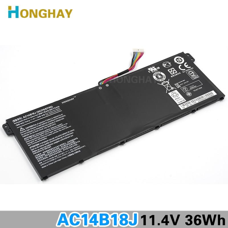 HONGHAY AC14B18J New Laptop Battery for Acer Aspire E3-111 E3-112 E3-112M ES1-531 B116 MS2394 B115-MP AC14B13j N15Q3 N15W4 ftw e3