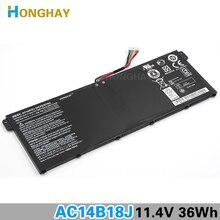 HONGHAY AC14B18J için Yeni Laptop Batarya Acer Aspire E3 111 E3 112 E3 112M ES1 511 TravelMate B116 B115 M B115 MP AC14B13j N15Q3