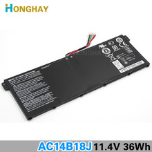 HONGHAY Original New AC14B18J Laptop Battery for Acer Aspire E3-111 E3-112 E3-112M ES1-511 B115-M B115-MP AC14B13j(China)