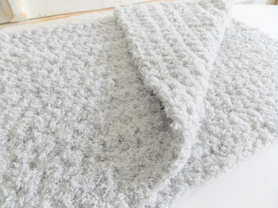 Gray Baby Blanket Super Soft And Fluffy Ready To Ship