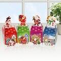 6 PCS caixas de presente de natal véspera de natal maçã caixa de caixa de boneco de neve de Santa Xmas Party