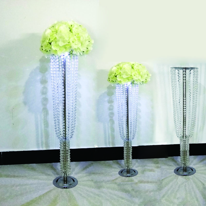 Aliexpress Whole Led Crystal Acrylic Metal Road Lead With Lights Wedding Party Event Table Centerpiece Decoration Pillar Stand From Reliable