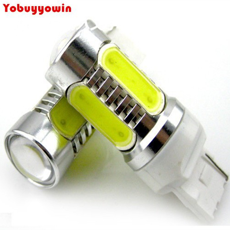 Free shipping 2pcs 7.5W Plasma LED T20 7440 W21W Amber Orange Yellow Car Signal Tail Turn DRL Light Bulb LED White