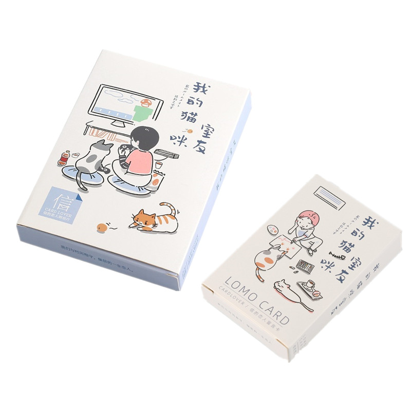 30 Sheets/Set My Friend And Cute Cat Paper Postcard Lomo Card Greeting Card Birthday Gift Card 2 Sizes