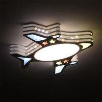 Ребенок самолетов LED Потолочные светильники для детей Детская комната Освещение потолок Лампы для мотоциклов для гостиной Спальня lamparas де