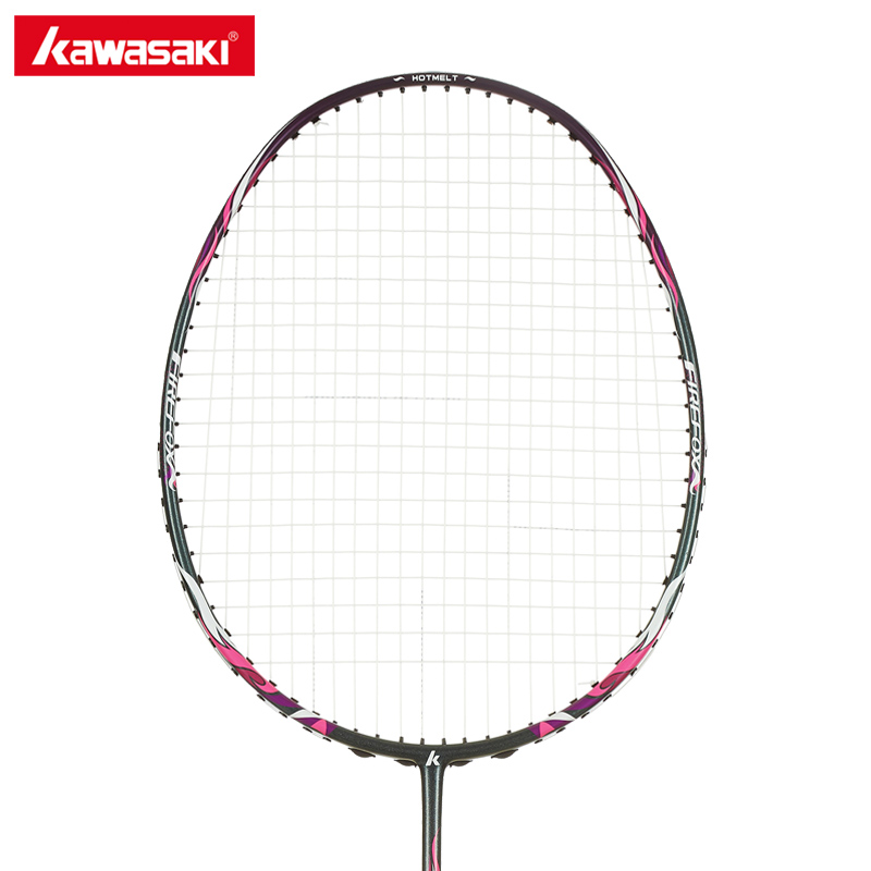 Kawasaki Badminton Rackets with String Professional Badminton Racquets for Beginners Firefox P520 kawasaki brand spider 6900 badminton rackets high tech wind break frame s5 graphite fiber professional badminton racquets