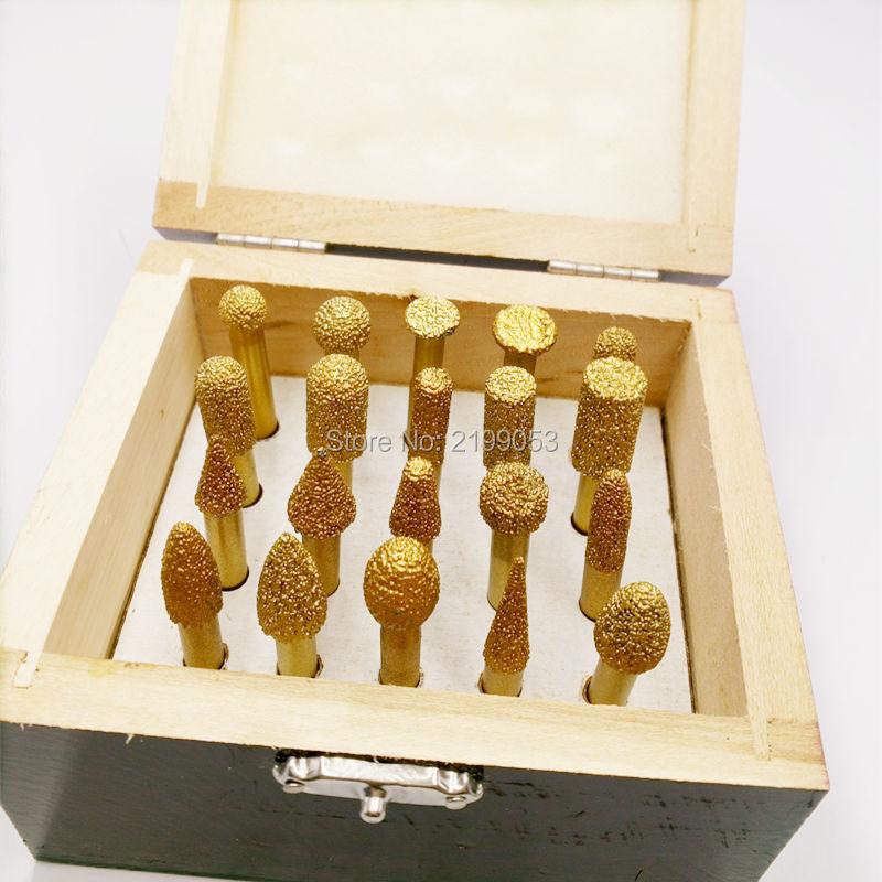YIYAN 20 pz / set 6 mm con codolo sottovuoto con frese diamantate con - Accessori per elettroutensili - Fotografia 2
