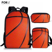 FORUDESIGNS 3pcs/Set Children School Bags for Boys Basketball Pattern Prints Orthopedic Backpack Kids Book Mochila Infantil