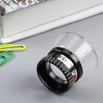 Przenośny Mini jubiler zegarek szkło powiększające 15X monokularowy szkło powiększające lupa obiektyw oko lupa Len naprawa zestaw narzędzi tanie i dobre opinie Inpelanyu Styl noszenia N1197 Brak Z tworzywa sztucznego ABS and Acrylic