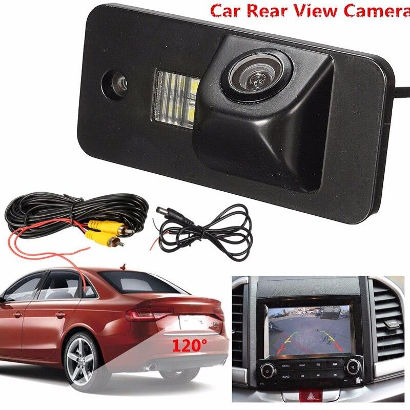Câmera de visão traseira 520TV linhas 120 À Prova D' Água Car Auto Rear View Camera Reversa Backup Câmera Placa de Licença Para Audi A3 A4 a5 RS4