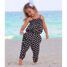 2016 Summer Toddler Kids Baby Girls clothes Strap Romper Polka Dot Jumpsuit Bodycon Harem Pants Bodysuit Outfits