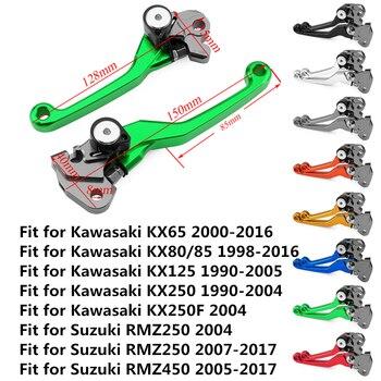 KX65 KX80 KX85 KX125 KX250 KX250F RMZ250 RMZ450 motocicleta CNC pivote freno embrague palancas Dirt Bike para Kawasaki Suzuki