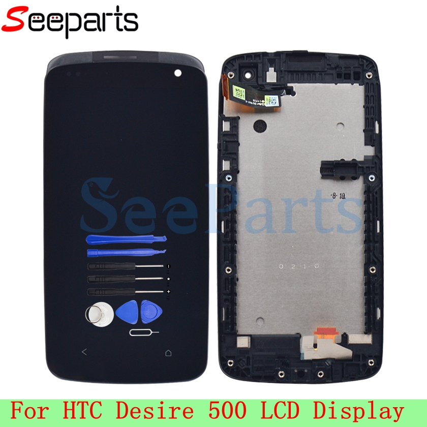 Für <font><b>HTC</b></font> <font><b>Desire</b></font> <font><b>500</b></font> LCD Display Touchscreen Digitizer Montage 4,3